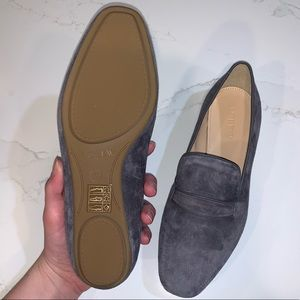 J.Crew Swede grey penny loafers